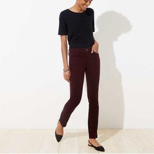 LOFT Classic Plum Corduroy Modern Skinny Jeans